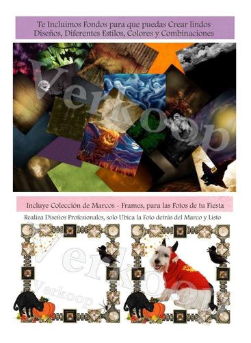 kit imprimible halloween dia de brujas invitaciones tarjetas
