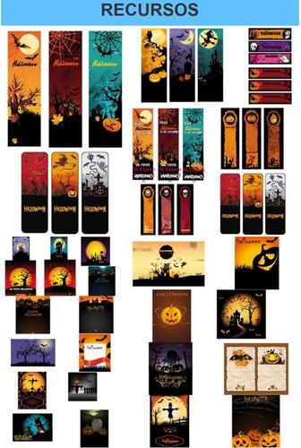 kit imprimible halloween fiesta 3x1
