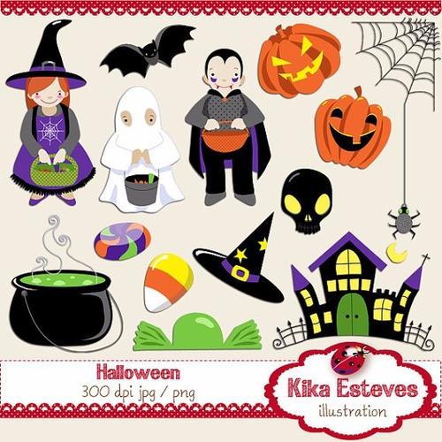 kit imprimible halloween imagenes clipart cod46