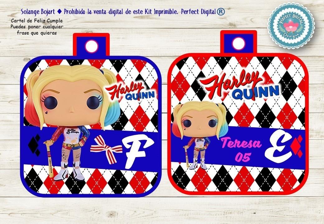 Kit Imprimible Harley Quinn Arlequina Escuadrón Suicida Dc