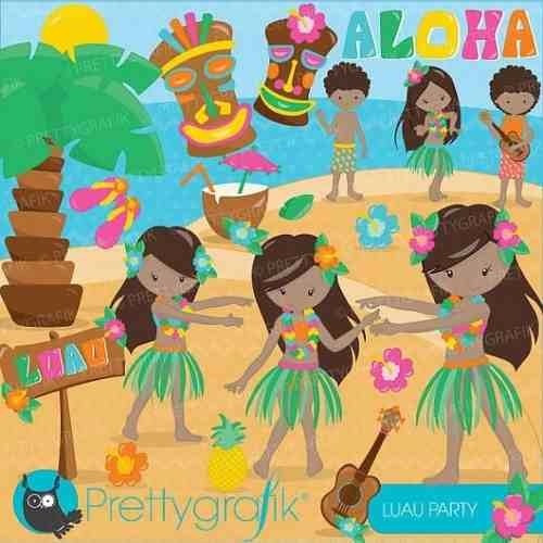kit imprimible hawaii 3 imagenes clipart