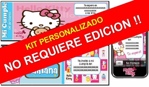 kit imprimible hello kitty 100% personalizado