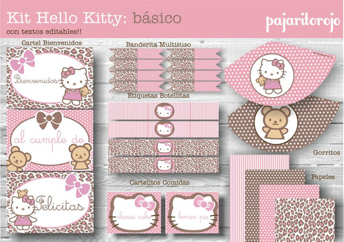 kit imprimible hello kitty