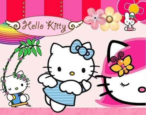 kit imprimible hello kitty diseñá tarjetas, cumples y mas