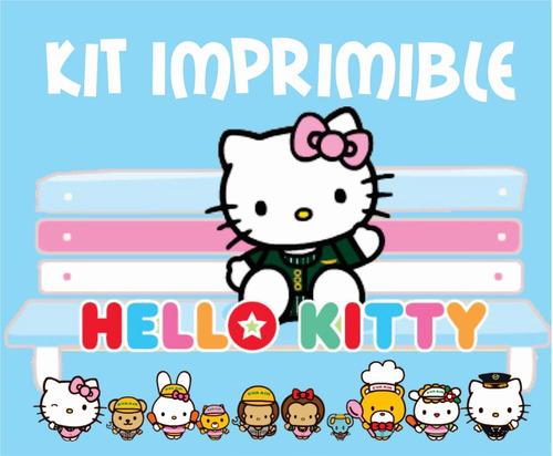 kit imprimible hello kitty etiquetas imagenes fondos