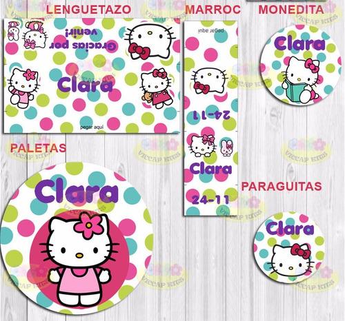 kit imprimible hello kitty invitaciones candy bar cotillón