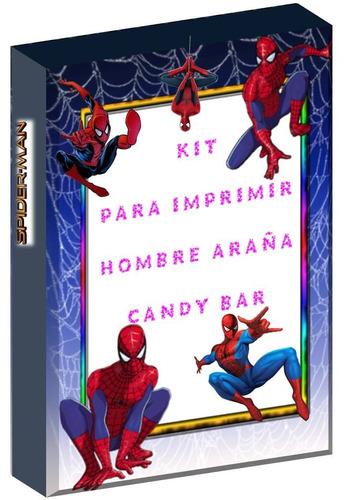 kit imprimible  hombre araña  candy bar