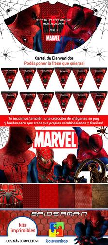 kit imprimible hombre araña candy bar tarjetas souvenirs