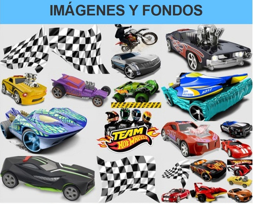 kit imprimible hot wheels fiesta 3x1