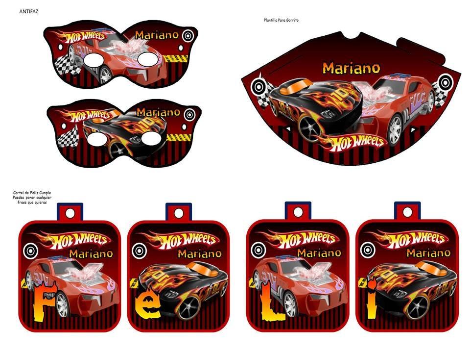 Kit imprimible hot wheels tarjeta decoracion fiesta bs for Decoracion de cuarto hot wheels