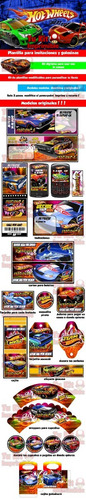 kit imprimible hot wheels tarjetas candy bar editable