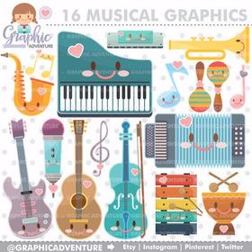 Kit Imprimible Instrumentos Musicales Clipart Cod211