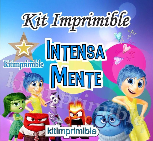 kit imprimible intensamente inside out candy bar  y mas