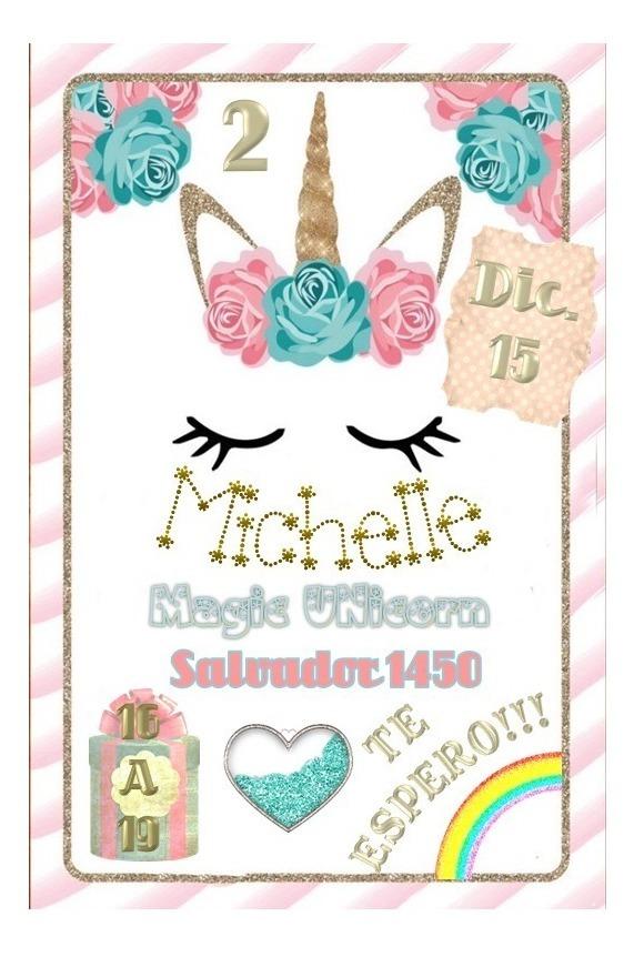 Kit Imprimible Invitación Cumpleaños Diseñamos Tu Tarjeta