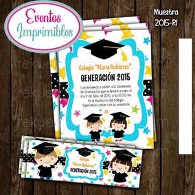 Kit Imprimible Invitación Graduación Niños