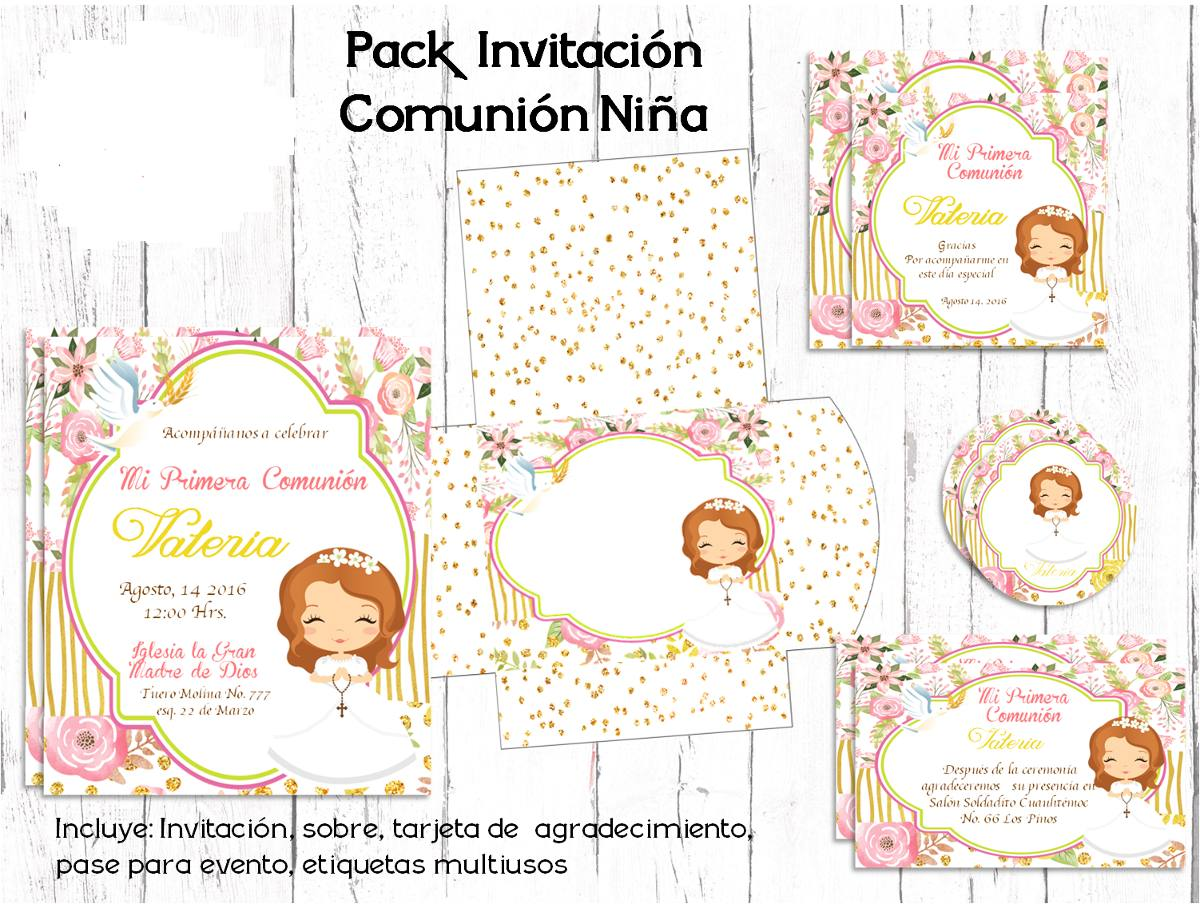 Kit Imprimible Invitaci 243 N Primera Comuni 243 N Vintage Barata