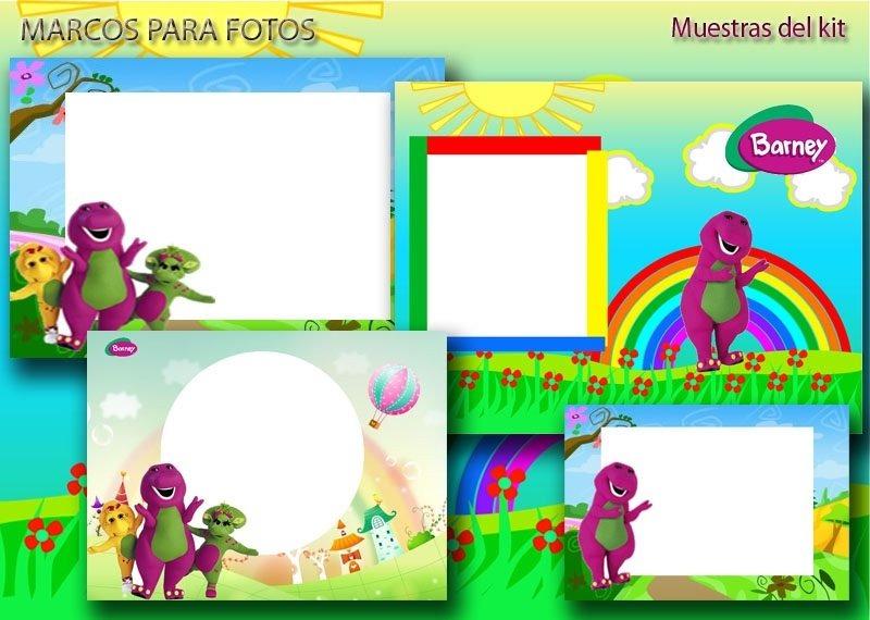 Kit Imprimible Invitaciones Barney - $ 50.00 en Mercado Libre
