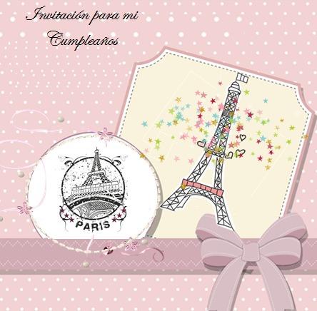Kit Imprimible Invitaciones Cumpleaños Paris Torre Eiffel