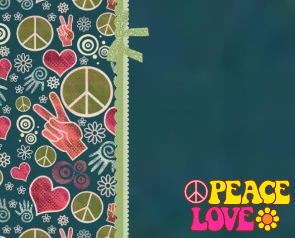 Kit Imprimible Invitaciones Hippie Simbolo Paz Años 60