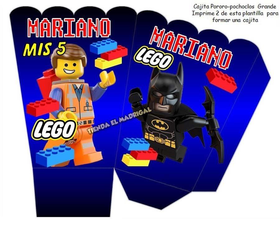 Kit Imprimible Invitaciones Lego Batman
