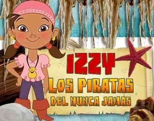 kit imprimible izzy y los piratas del país de nunca jamas