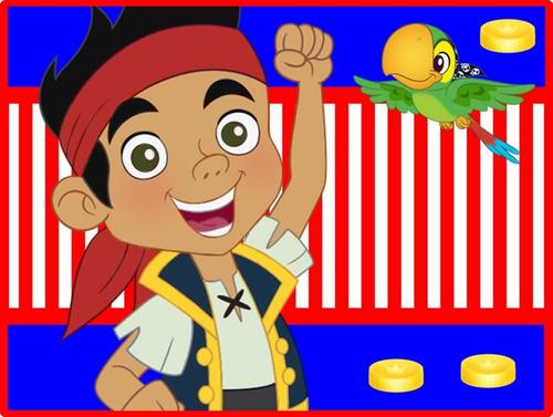 kit imprimible jake y los piratas del nunca jamas. cupcakes