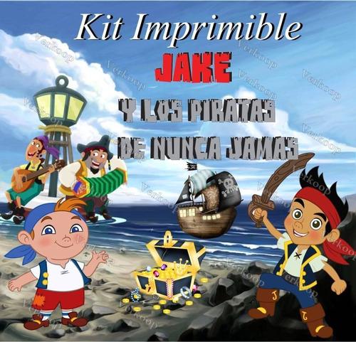 kit imprimible jake y los piratas del nunca jamas invitacion