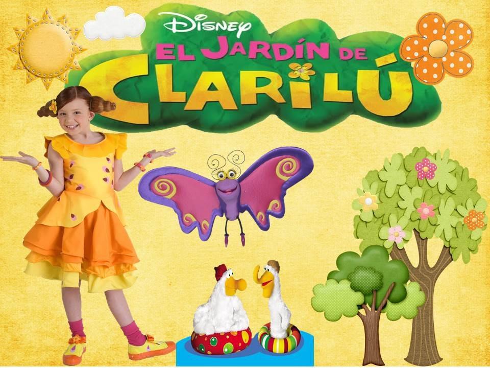 Kit imprimible jardin clarilu tarjeta decoracion fiesta for Cancion el jardin de clarilu