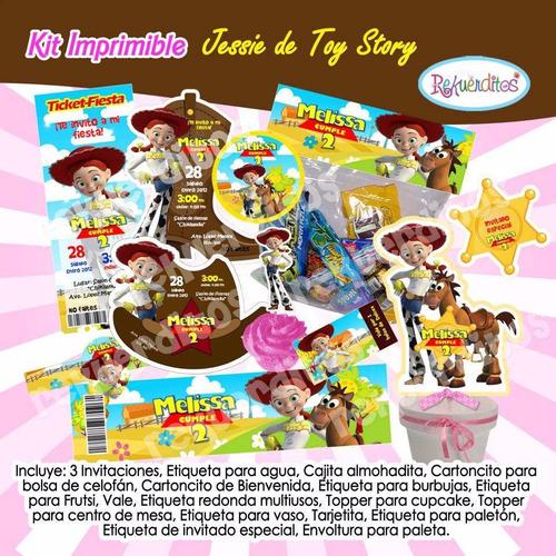 kit imprimible jessie toy story tarjeta invitaciones y mas4