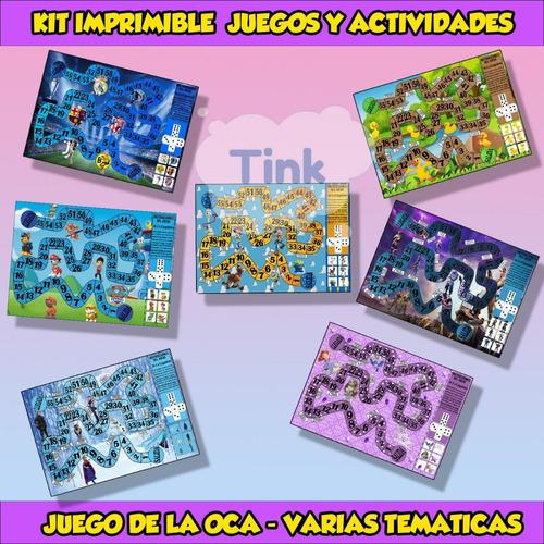 kit  imprimible  juegos y actividades