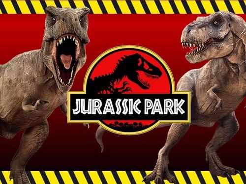 kit imprimible jurassic park dinosuarios diseña tarjetas 2x1