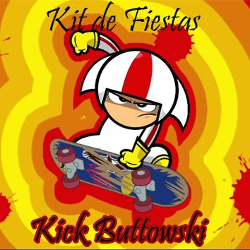 kit imprimible kid buttowski, nuevo, invitaciones y más