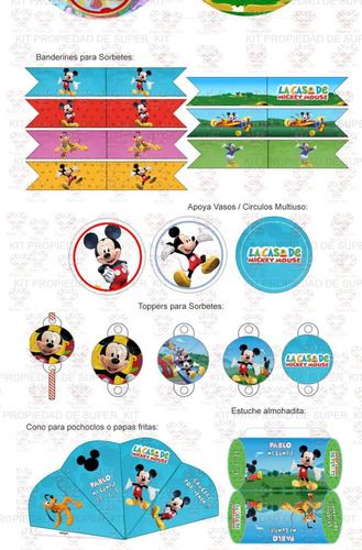 kit imprimible la casa de mickey mouse - candy bar promo 2x1
