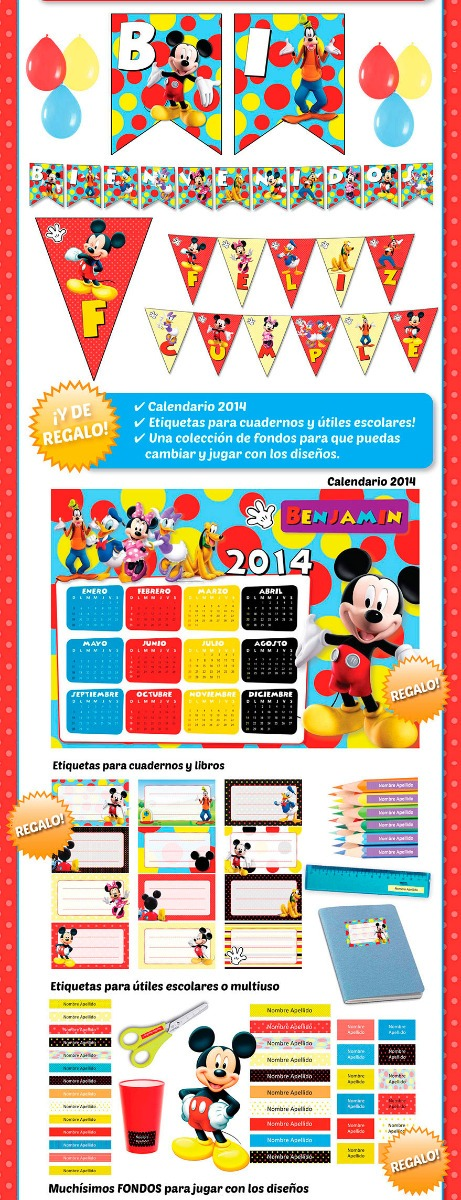 Fantástico Mickey Mouse Etiquetas Del Uña Ideas - Ideas de Diseño de ...