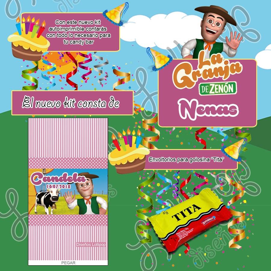Kit Imprimible La Granja De Zenon Nena Candy Bar Cumple 359 00