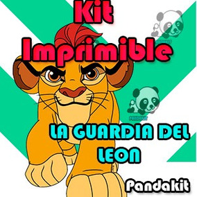 Kit Imprimible La Guardia Del Leon Cumpleaños Invitaciones