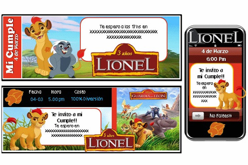 kit imprimible la guardia del león para varon