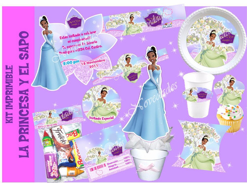 kit imprimible la princesa y el sapo princesa tiana 3