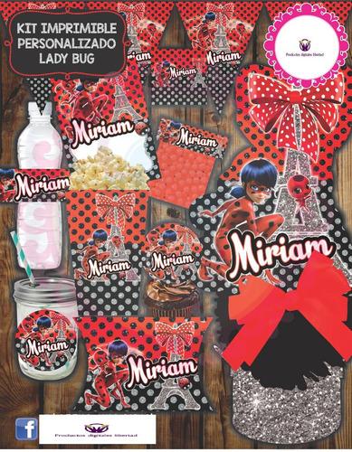 kit imprimible lady bug