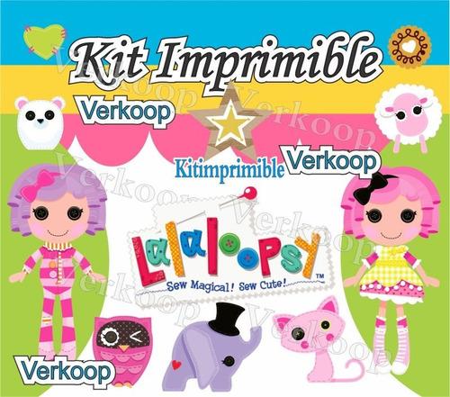 kit imprimible lalaloopsy lala loopsy candy bar fiesta