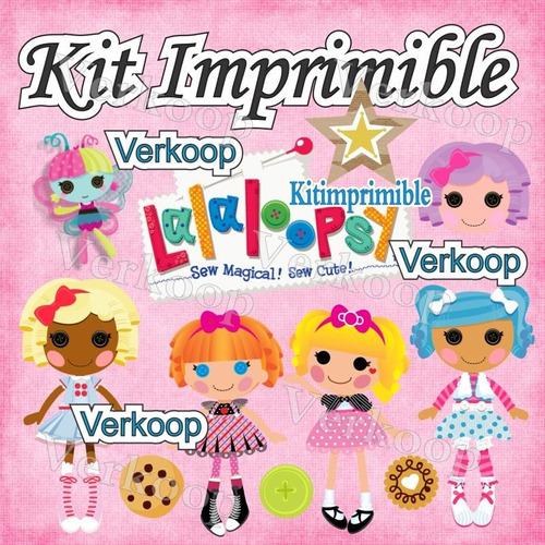 kit imprimible lalaloopsy lala loopsy + candy bar fiesta co