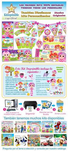 kit imprimible lalaloopsy lala loopsy + candy bar fiesta pe