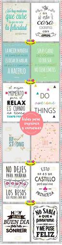 kit imprimible láminas con frases para cuadritos y frascos!