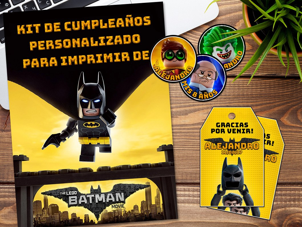 Kit Imprimible Lego Batman Personalizado Cumpleaños Candybar - $ 349 ...