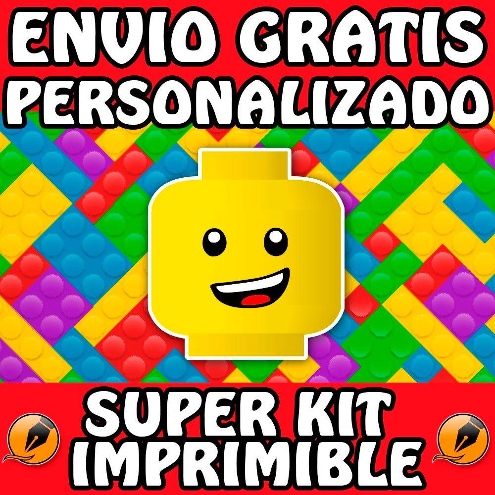 Kit Imprimible Lego Personalizado Gratis Candy Bar ...