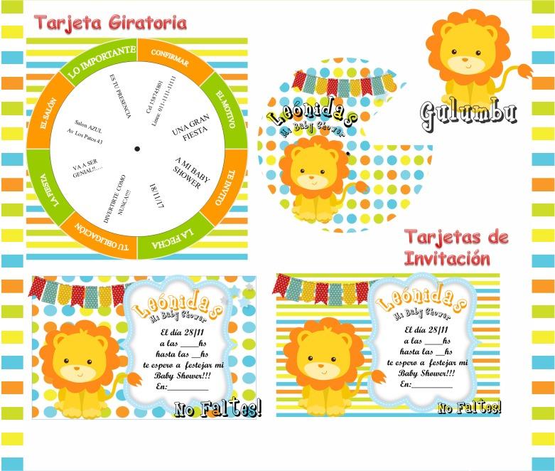 Kit Imprimible Leones Leoncito De Colores Unisex Baby Mod2 - $ 65,00 ...