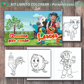 Kit Imprimible Librito Colorear La Granja De Zenon