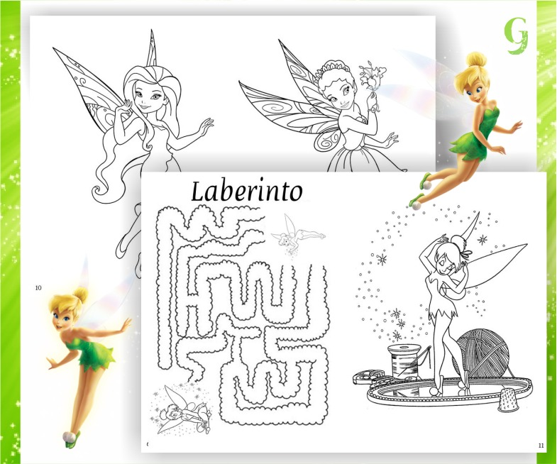 Kit Imprimible Librito Tinkerbell Campanita Imprimir Pintar - $ 65 ...