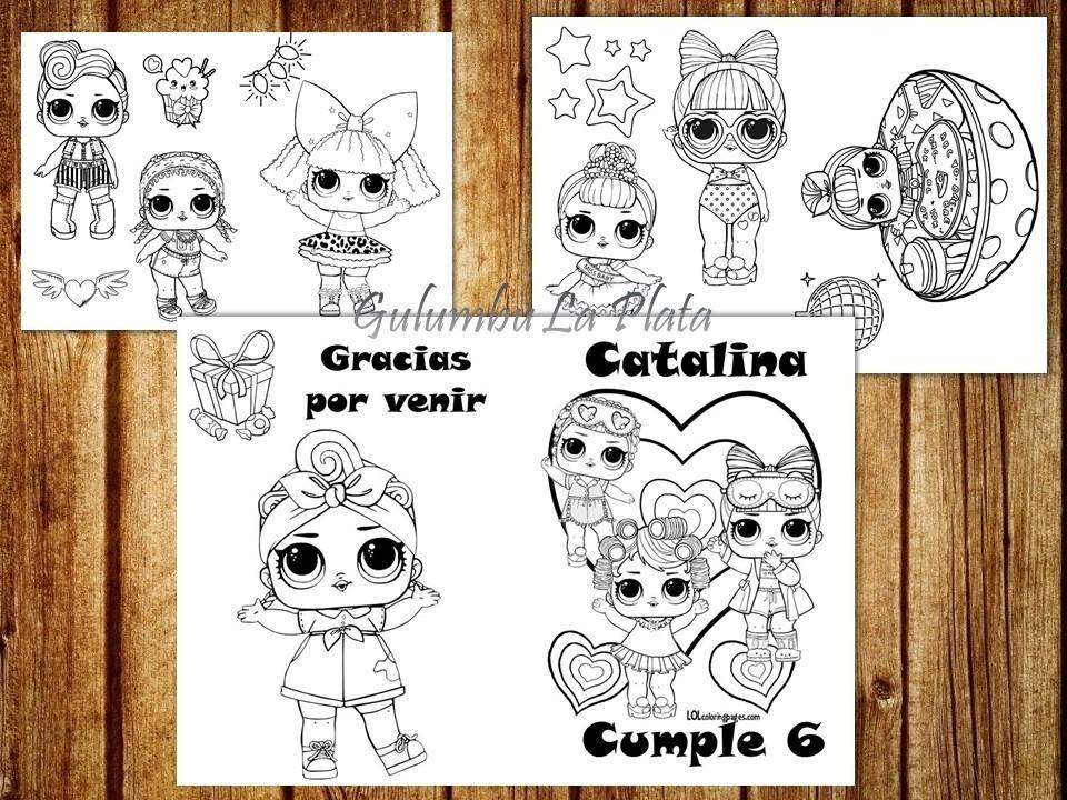 Kit Imprimible Libritos Colorear Munecas Lol L O L Surprise 80
