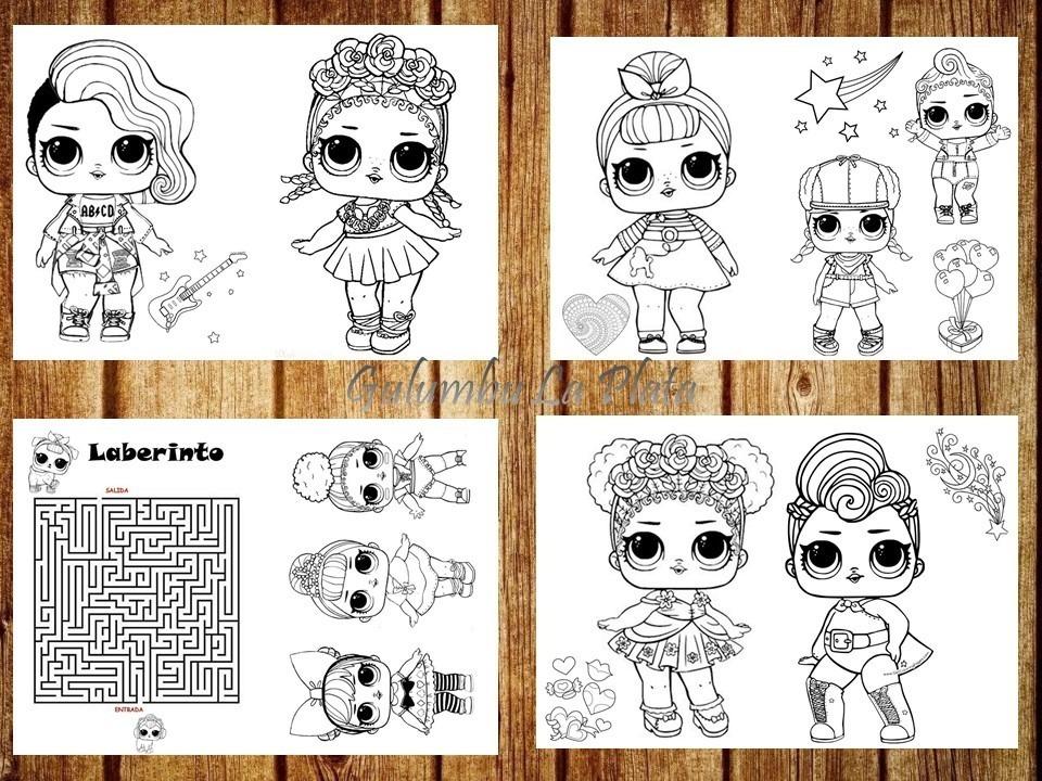 Kit Imprimible Libritos Colorear Munecas Lol L O L Surprise 35